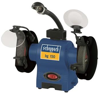 Scheppach bg 150 dvoukotoučová bruska s indukčním motorem
